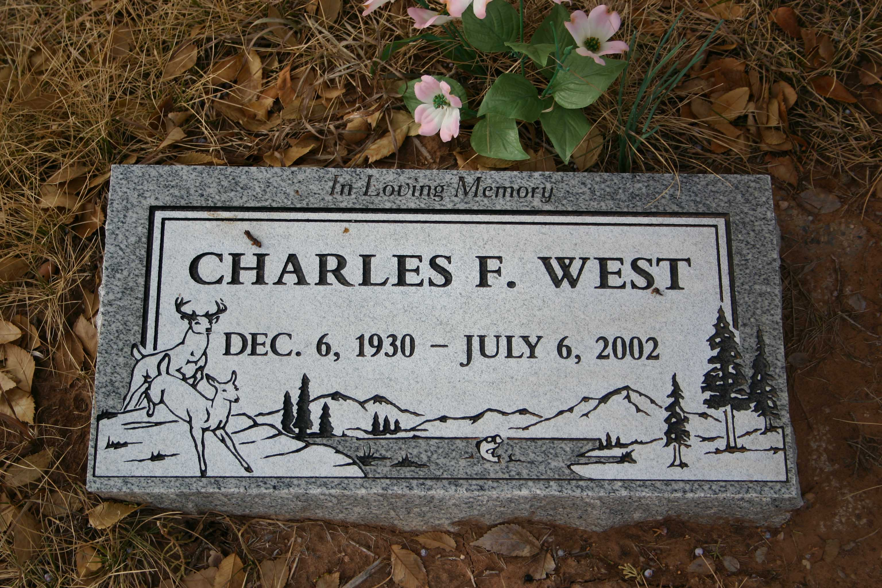 Charles West Headstone