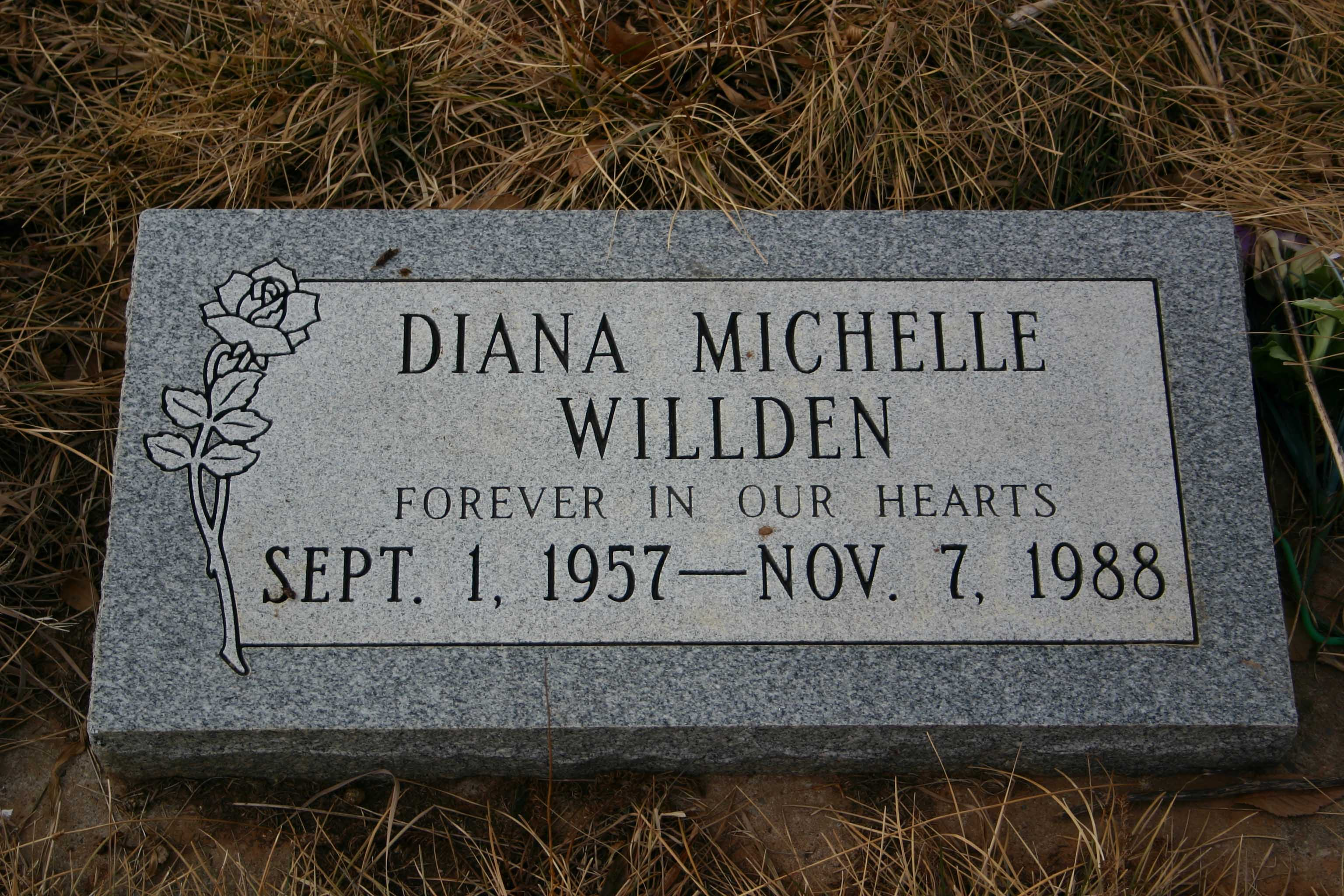 Diana Michelle Willden Headstone