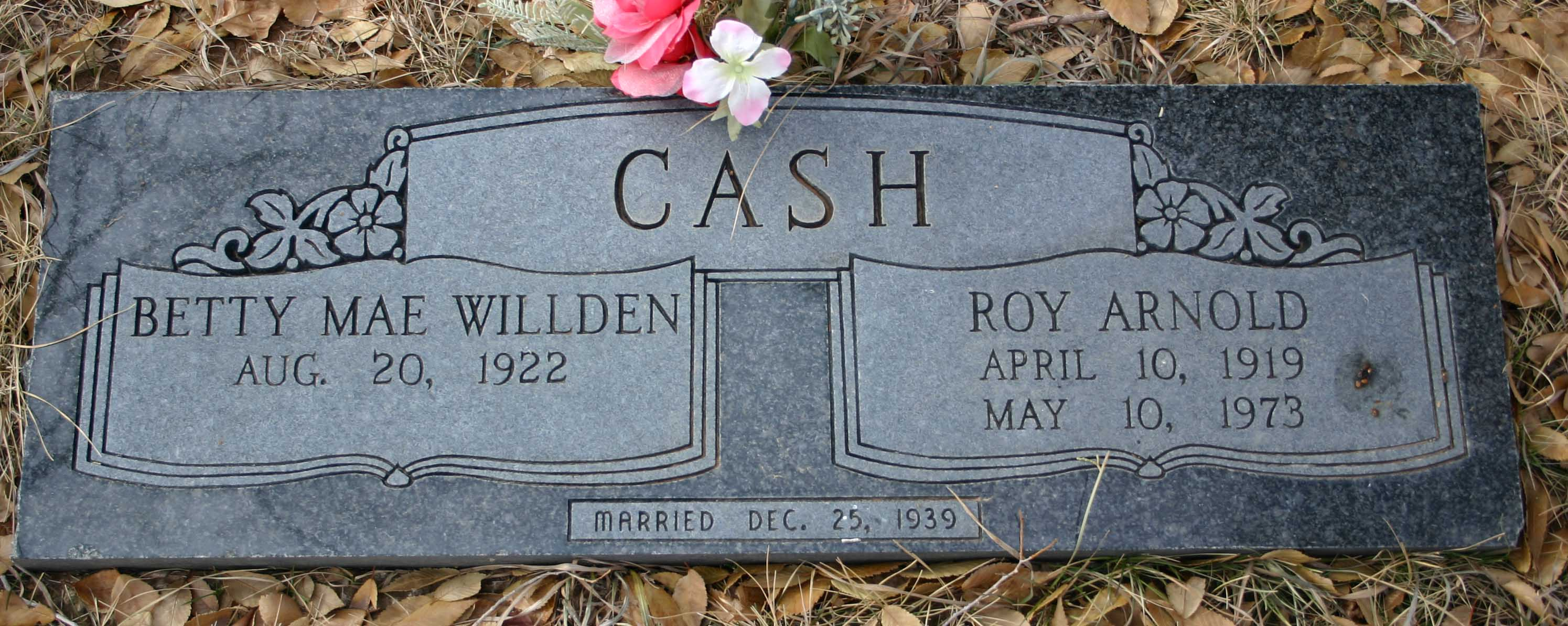 Roy Arnold and Betty Willden Cash
