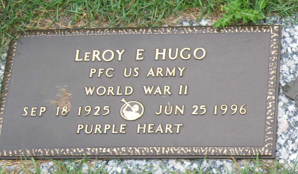 LeRoy Hugo Headstone